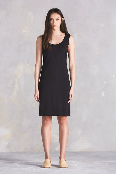 Kowtow Building Block Rib Tank Dress in Black