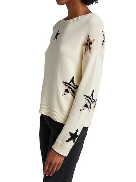 Rails Perci Star knit Sweater - Neutral Animal print
