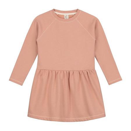 Kids gray label dress - rustic clay