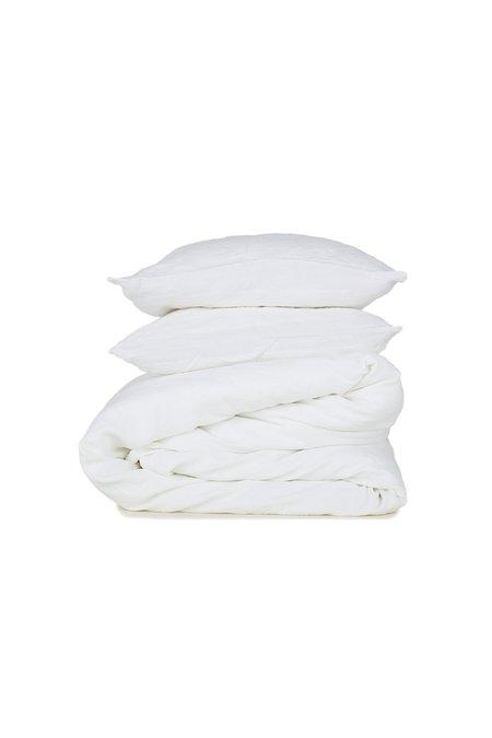Hawkins New York Simple Standard Pair Linen Pillow Case - Ivoy
