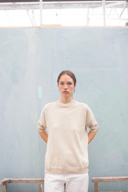 Monica Cordera Cotton Sweater - NATURAL