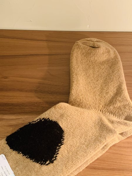 Unisex Wool Hansel from Basel Dodo Wool Crew Socks - Camel