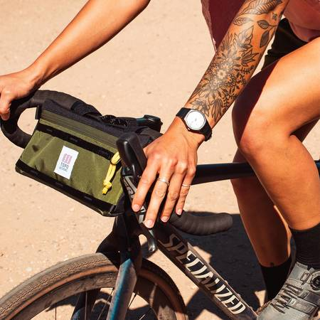 Unisex Topo Designs Bike Bag - Olive/Black