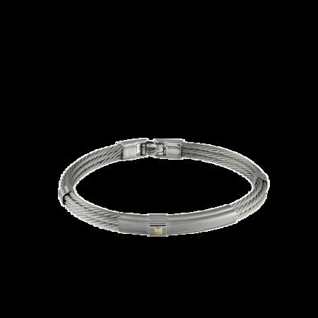 Italgem Rounar Cable Bracelet - Silver