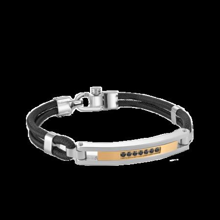 Italgem Yrio CZ Bracelet - Silver/Black