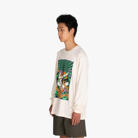 Good Morning Tapes Trip To Knowhere Long Sleeve T-Shirt - white
