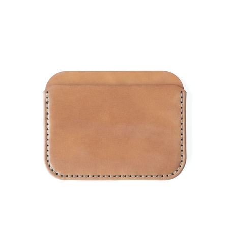 Unisex MAKR Horween® Shell Cordovan Leather Round Luxe Wallet - Natural