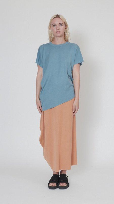 Issey Miyake Silky Drape Knit Top - Light Blue