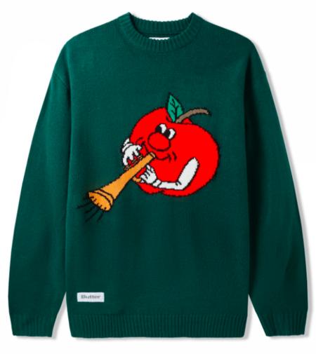 Butter Goods Apple Knit Sweater - green