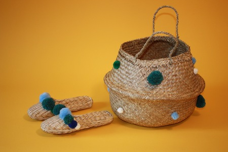 Shipwreak Teal ss17 Basket and slipper combo