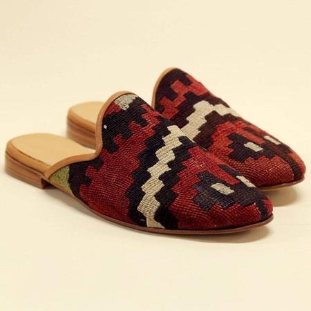 Ocelot Market Men's Turkish Kilim Mule shoes - MULTI