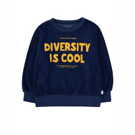 kids Tinycottons Diversity Is Cool Sweatshirt - Deep Blue