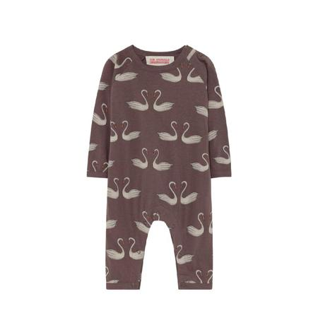 Kids the animals observatory owl baby pajama one piece - Brown