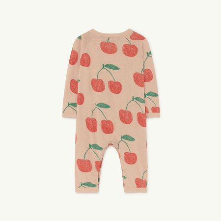 Kids The Animals Observatory Owl Baby Romper - Soft Pink Cherries