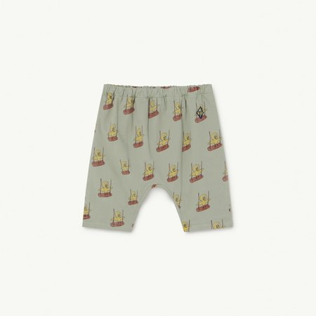 Kids The Animals Observatory Elephant Baby Pant - Soft Green Birds