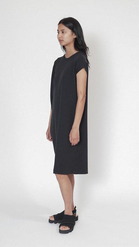 Issey Miyake Silky Drape Knit Dress - Dark Gray