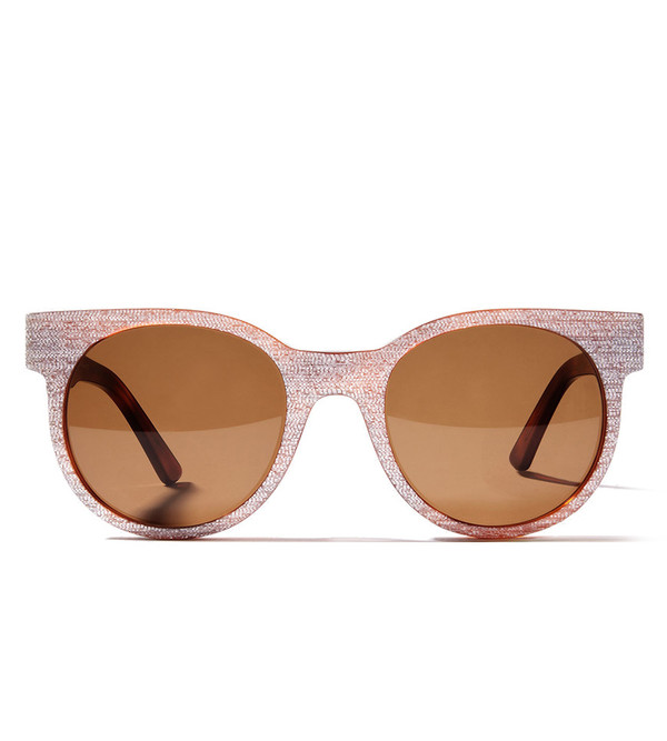 ZANZAN Avida Dollar Sunglasses in Havana/White Shargreen