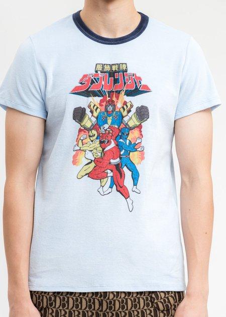 Doublet Character Velour T-Shirt - Light Blue