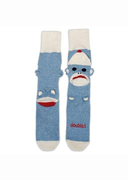 Doublet Sockmonkey Socks - Light Blue