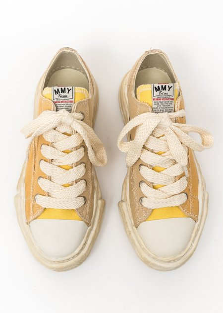 Mihara Yasuhiro Original Sole Overdyed Lowcut Sneaker - Yellow