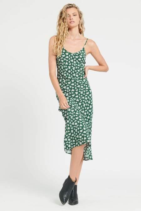 Rollas Margaux Elderflower Slip dress - green/white