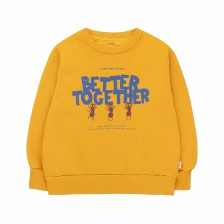 kids tinycottons better together sweatshirt - honey/ultramarine