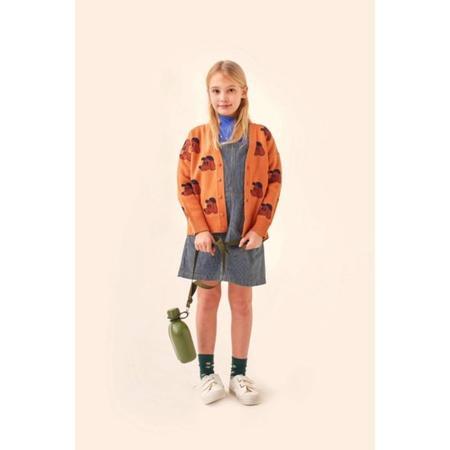 kids tinycottons dog cardigan - true brown/dark copper