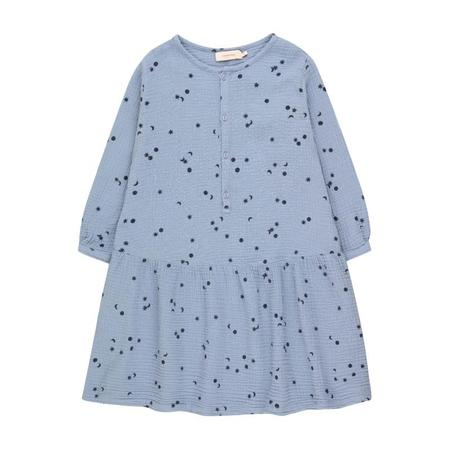 tinycottons sky relaxed dress milky sky/deep blue