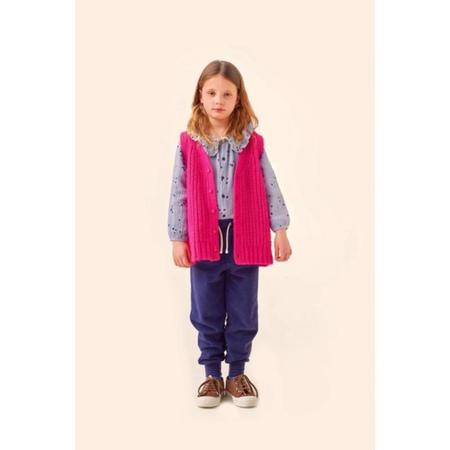 kids tinycottons solid vest - fuchsia