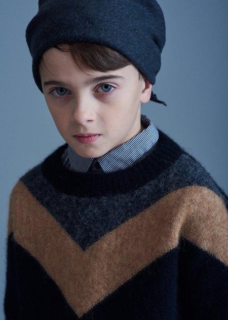 kids Caramel Autone Jumper sweater - Black/Camel
