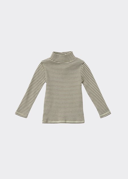 kids Caramel Forgo Baby T-Shirt - Lemon Chocolate Stripe