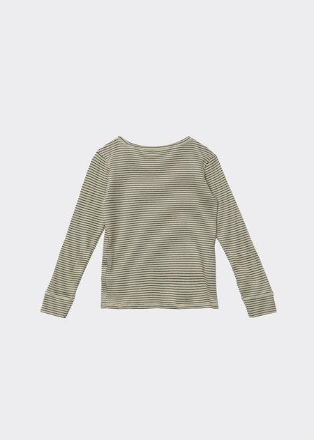 kids Caramel Kishon T-Shirt - Lemon Chocolate Stripe