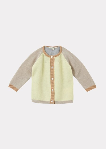 kids Caramel Rosa Baby Cardigan - Lemon