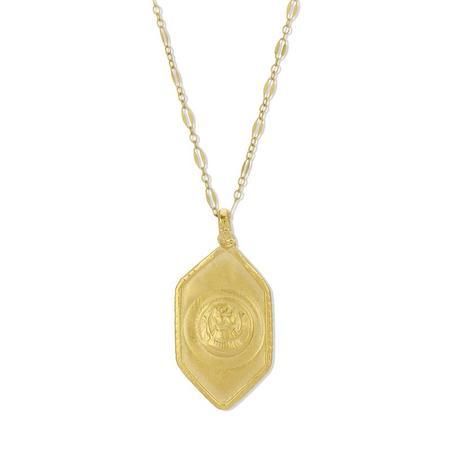 Joy Dravecky Sacred Warrior Pendant - Gold