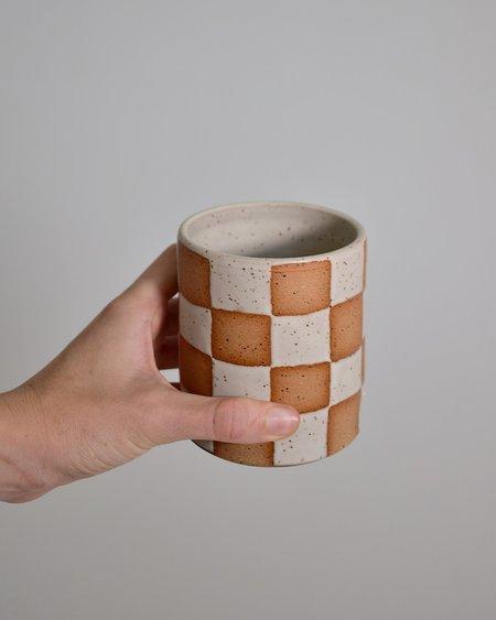 Terra Sol Ceramics Checkered Cup