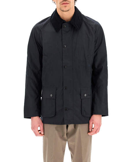 Barbour Ashby Waxed Cotton Jacket - blue navy