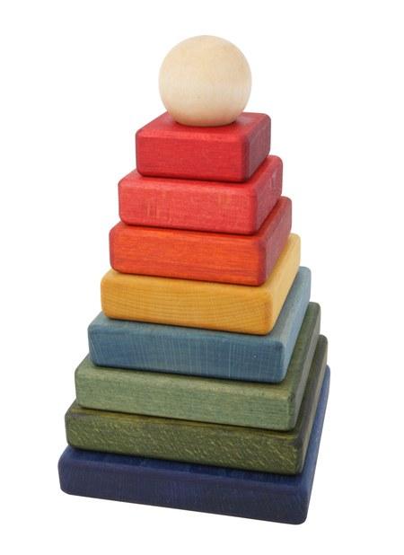 Wooden Story Rainbow Pyramid - COUCOU BOSTON