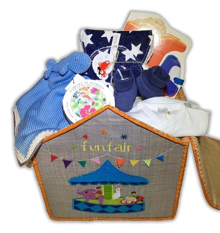 CouCou Baby Basket, Small Essentials for Boy