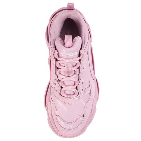 Balenciaga Triple S All Over Logo Sneaker - Pink