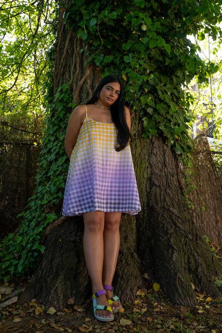 abacaxi Flared Slip Dress - Cosmic Gingham