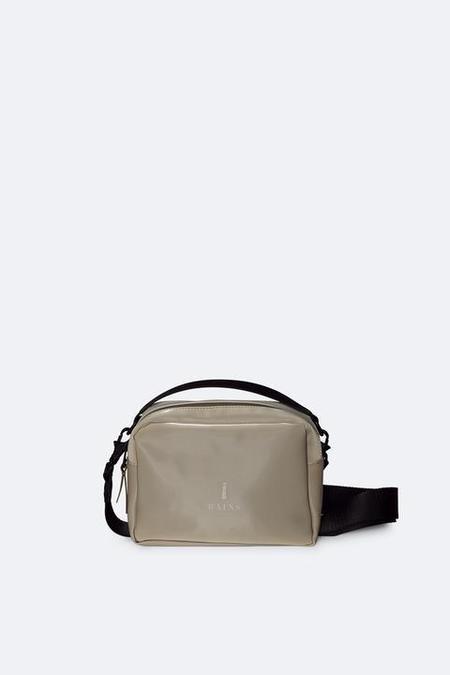 Unisex Rains Velvet Taupe Box Bag