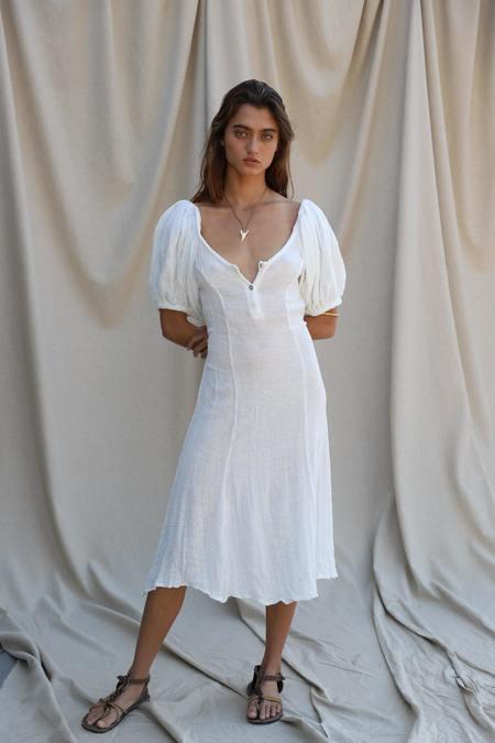 Jen's Pirate Booty  SAMPLE Na Pali Coast gauze Dress - White