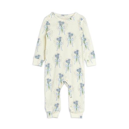 Kids mini rodini winterflowers aop baby jumpsuit - blue