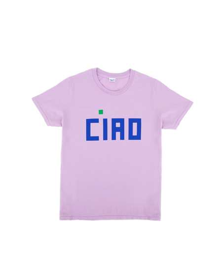 Clare V. Ciao Camp Fit Tee - Lavender