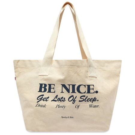 Sporty & Rich Be Nice Tote - Natural