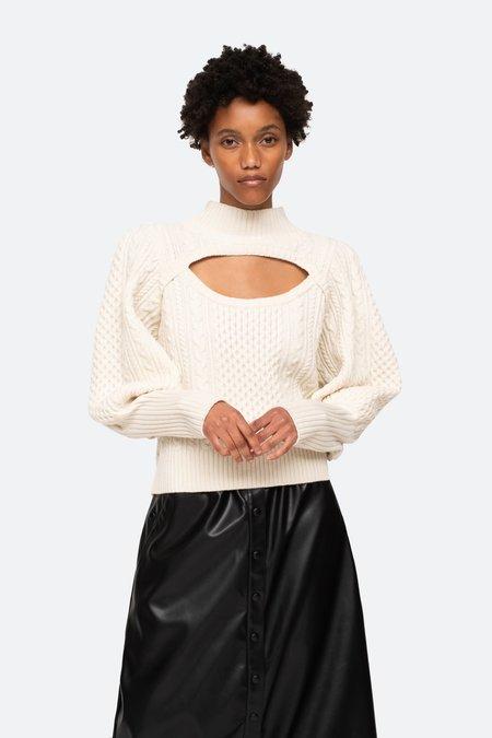 Sea NYC Juliette Cut Out Sweater - Barley