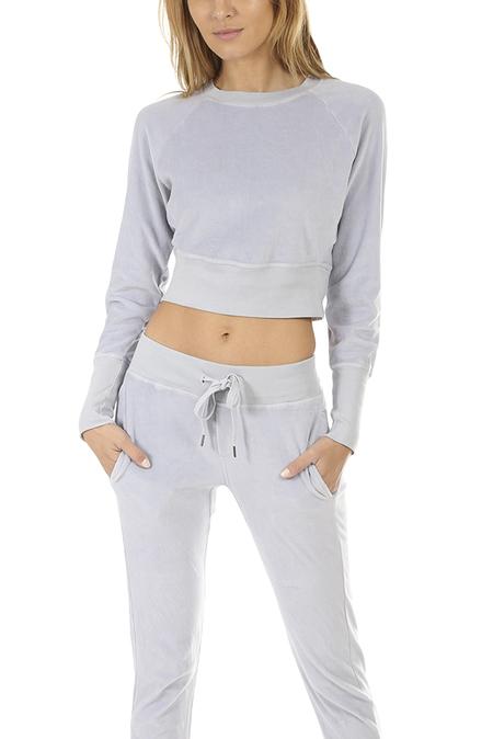 Women's NSF Parker Cropped Crewneck Sweatshirt Sweater - Shell Grey