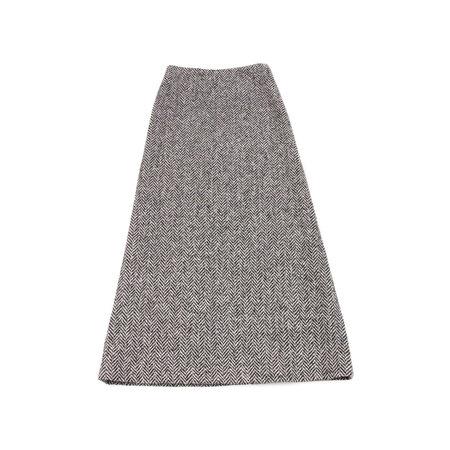 Horses Atelier Long Skirt in Wool Herringbone