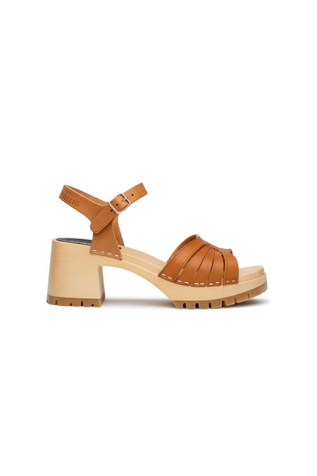Swedish Hasbeens Strap High heels - Nature