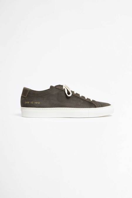 Common Projects Achilles low shoes - waxed suede olive